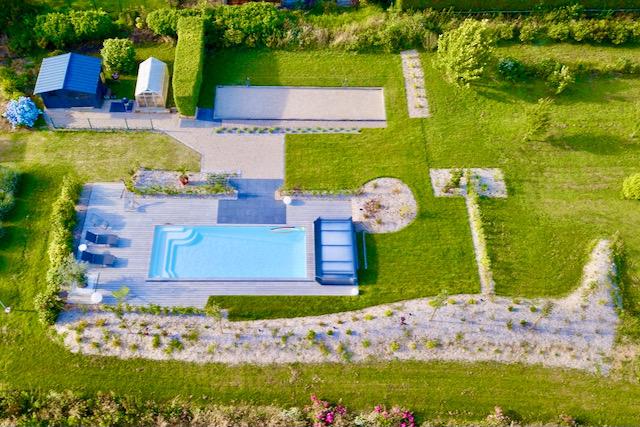 piscine location d'un gîte la chouette blanche